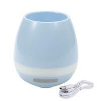 Wholesale Wholesale For Night Stands - Leadka Creative Bluetooth Speaker Smart Music Flowerpot Intelligent Touch Plant Piano Sound Flower Pot With Colorful LED Night Light DHL