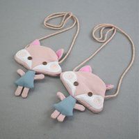 Wholesale Cartoon Fox Satchel Bags - Cartoon Kids Bags New 2017 Fox Baby Girls Messenger Bag Cute Children Change Purse Kids Shoulder Bags chic mini satchel for baby C2006