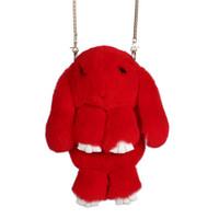 Wholesale Handbag Real - Wholesale- 100% Rabbit Fur Handbags 2016 Winter Shoulder Bag Real Fur Handbag Women Messenger Bag Lovely Bunny Shoulder Bag Tote ZD457