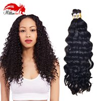 Wholesale deep wave braiding hair 18 inches resale online - Mink Brazilian Virgin Hair Bundles Bulk Hair for Braiding Deep Curly Wave Virgin brazilian Human Braiding Hair Bulk No Weft Bulk