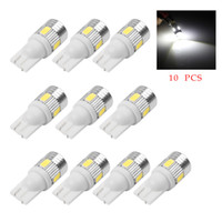 Wholesale Led Car Lights 194 - 10Pcs T10 W5W Error Free 168 194 SMD LED Super Quality Car Light Bulb Lamp For Car Tail Light Side Parking Door Lighting