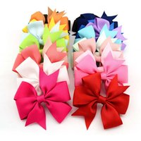 Wholesale Hair Rubber Diy - Lovely Baby Headband Solid Girl Headwear Bow Hairpin For Girls,Hair Band For Kids Claws DIY Bowknot Headwear Hair Accessories