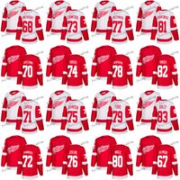 Saison 2017-2018 Red Wings de Detroit 71 Dylan Larkin Andreas Athanasiou Cole Fraser Sean Josling Matt Ford Pat Nagle 83 Trevor Daley Chandails