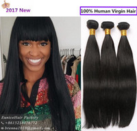 Wholesale Natrual Wave - Brazilian straight hair bundles 3 pack for full head hair extension remy wefts for black women soft 100% unprocessed natrual hair african