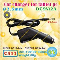 Wholesale Ampe A78 Tablet Pc - Wholesale- 2pcs [C511] 2.5mm (Pin0.7mm)   9V,2A Car charger for tablet pc;ONDA,CUBE,AMPE A78,SANEI,AINOL,VIDO,FREELANDER,ONN,IAIWAI,ALLFINE