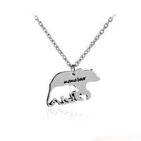 amor de mãe venda por atacado-2017 mãe colar presente mama urso bebê urso liga oco pingente de colar moda jóias criativas bonito charme animal amantes presente