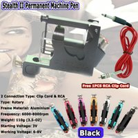Wholesale Stealth Rotary Tattoo Machines Kits - Stealth II Tattoo Machine Rotary Tattoo Machine Gun Liner Shader for Tattoo Kits Supply 7 Colors Free Shipping