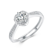 Wholesale Heart Shape For Valentines Wholesales - Wholesale Exquisite Diamond Rings YJY 925 Sterling Silver Women's Jewelry Ring Heart Shape Finger Ring Wedding Ring Valentines Gift for Girl