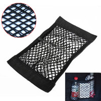 Novo carro Auto Back Rear Trunk Seat Elastic String Net Mesh Storage Bag Pocket Cages CEA_30T