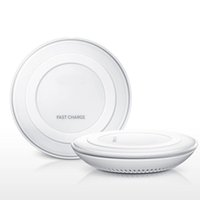 Wholesale Qi Wireless Charging Pad Black - black white universal Q1 wireless charge pad Hot Sale Luxury Qi Wireless Charger Charging Pad Mini for Samsung s7 edge s8 plus note 4 note 5