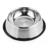 Wholesale stainless steel cat bowls resale online - Pets No Tip Dog Bowl Stainless Steel Standard Pet Dog Puppy Cat Food or Drink Water Bowl Dish