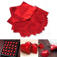 Vente en gros - 100pcs Bonbons Candy Package Foil Paper Chocolate Lolly Foil Wrappers Square