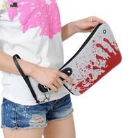 Wholesale Blood Handbag - Wholesale- Hot Sale Funny Blood Kitchen Knife Purse Travel Clutch Bags Ladies Wallets Women Coin Purse Handbag Factory Price Selling XA530B