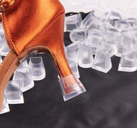 Wholesale High Heel Hanger - 3 styles High Heel Protector Latin Stiletto Dancing Covers Heel Stoppers Antislip Silicone Protectors for Wedding and Party