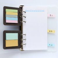 Wholesale Filler Adhesive - Wholesale- 2Pcs pack Cute 6 Holes A5A6 Binder Planner Filler Sticky Notes Note-taking Planning Adhesive Planner's Portable Sticky Notes