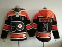 Wholesale Cheap Windproof Fleece - #9 Provorov Flyers 2017 Stadium Series Premier Sports Hoodies Black Stitched Sports Hoodies Cheap Hockey Jacket Online Sports Hoodies