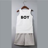 Hosen Outfits Jungen Sommer kurze Sets Tank Tops Baumwolle Shorties Anzüge Kinder Kleinkind Panzer Sets Junge Mode ärmellose T-Shirt Outfits Kind