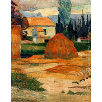 Wholesale paul gauguin paintings for sale - Group buy High quality Handmade Paul Gauguin oil Paintings reproduction Haystack Near Arles for Bedroom decor