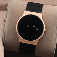 Wholesale Thinnest Automatic Watch - Ultra-thin Casual men's luxury Sport watches Top brand Full Stainless Steel band Automatic Date Quartz watch For men male clock wristwatches