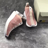 Wholesale Naked Original - 2017 New AD X Naked X Kith X NMD PK CS2 Real Boost With Original Box Running Pink Sneakers BY2596 Best Quality Shoes Women Size US 4-6