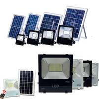 Wholesale solar panel powered lights - High Quality W W W W Solar Powered Panel Led Remote control Flood Lights outdoor floodlight Garden outdoor Street light