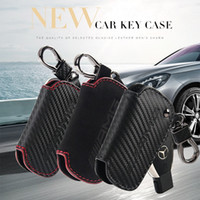 Wholesale Mercedes Key Case - Carbon Fiber Skin Car Key Ring Chain Auto Keys Case Cover Key Protector for Mercedes Benz AMG A C E S GLA GLC CLA