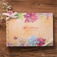 Wholesale Book Souvenir - Vintage Wedding Guest Book, Flower Marriage Book for Signature Anniversary Gift, Wedding Souvenirs Party Supplies Weddings & Events