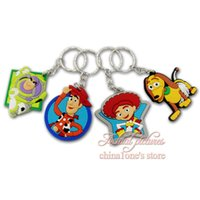 Wholesale Keychains Children Wholesale - Min Order=20pcs Toy Story Cartoon 2D Keychains Key Ring For Bags wallet Clothing,Key Accessories,Children Decoration Gift