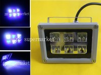 Wholesale Led Coral Reef Lighting - Wholesale- 18W White + Blue High power LED grow light Floodlight For Reef Coral Fish Tank Aquarium