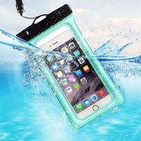 Wholesale Waterproof Iphone Case Floats - Promotion Clear Waterproof Pouch Bag Float On Water Dry Case Cover For Smart Cell Phone iphone Samsung Swimming Beach Up To 6 inch