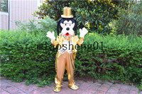 Wholesale Cartoon Dog Costumes For Adults - 2017 high quality golden dog men and women general Christmas costumes for Halloween party cartoon mascot adult size
