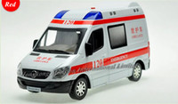 Wholesale Back Light For Car - 1:32 Scale Metal Diecast Alloy Ambulance Car Model For Sprinter Collection RV Model Pull Back Toys Car With Sound&Light