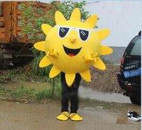 costume carnaval partido roupa venda por atacado-Alta qualidade EVA Material Capacete sunflowere dos desenhos animados traje da mascote personalizado trajes de festa trajes de carnaval vestido de natal