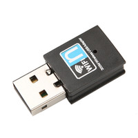 Wholesale card wifi for pc - Wholesale- Mini 300Mbps Wireless Network Card USB Router wifi adapter WI-FI emitter Internet Adapter for computer Laptop PC Wifi Receiver