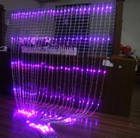 ingrosso luci fiabesche della cascata-Su e giù per le luci della cascata Sfondo di nozze cortina di luce LED Fata Lampada natalizia Lampada da festival 6M * 3M led luci da cascata funzionanti