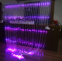 şelale perdesi açtı toptan satış-Yukarı ve aşağı şelale ışıkları Düğün arka plan ışığı perde LED Peri Noel lamba festivali lamba 6 M * 3 M led koşu şelale ışıkları