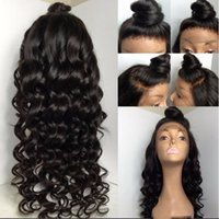 Wholesale Tightest Curl Human Hair - French lace Natural hairline wigs Virgin Burmese 9A grade 150% tight curl 100% virgin hair full lace human hair wigs