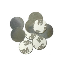 Wholesale Magnetic Eyeshadow - Wholesale-20pcs Round Metal Stickers For Magnetic Eyeshadow,To Hold Your Eye Shadow On Magnetic Eyeshadow Palette Tightly