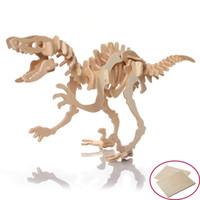 Wholesale Dinosaurs Wood - Wholesale- 3D Dinosaur Jigsaw Puzzles Wooden Kids Children Preschool Educational Toys Educational Toys Wood practical manual ability