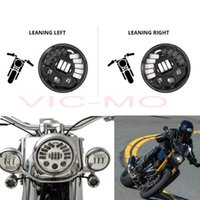 """Wholesale Led Projector Headlights Motorcycle - Motorcycle Black Chrome 7"""" Inch Round Headlamp High Sensitive Adaptive Daymaker Projector H4 LED Headlight For Harley Davidson Yamaha XSR700"""