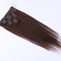 "Wholesale Wholesale Remy Hair 15 - 5set lot Dark Color Remy Human Hair 15"" 18"" 20"" 22"" Clip hair extension Black Brown Blonde optional 70g 100g MoonBay Hair"
