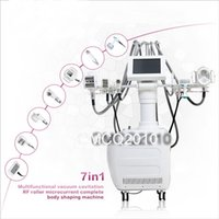 Wholesale Lipo Massage - 7 in 1 Vacuum roller massage VACA shape Laser Ultrasound Cavitation lipo laser Slimming Machine , RF BIO Cavitation Body Shaping Machine