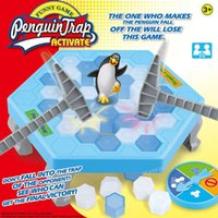 Wholesale Interactive Penguin - Penguin Trap Game Interactive Toy Ice Breaking Table Plastic Block Games Penguin Trap Interactive Games Toys for Kids b1162