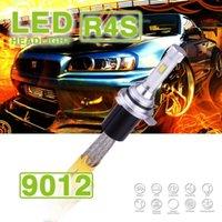 Wholesale Slim Hid Fog Lights - 1 Set 9012 HIR2 R4S 90W 10400LM LED Headlight Super Slim Conversion Kit Single Beam Driving Fog Lamp Bulb 45W 5200LM Repl HID Xenon Halogen