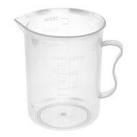Wholesale Wholesale Plastic Beaker - Wholesale- 5pcs Plastic School Liquid Container Measuring Beaker 250mL Capacity Clear