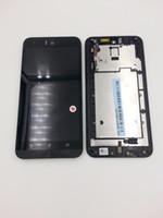 панель сенсорного экрана asus оптовых-Оптовая продажа-для ASUS Zenfone Selfie ZD551KL ZE551KL новый полный ЖК - дисплей монитор + сенсорная панель экрана Digitizer стекло Ассамблеи с рамкой