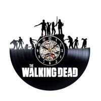 Wholesale walking dead vinyl - Walking Dead Theme Vinyl Clock Creative Design
