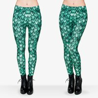 Wholesale Skin Pants Woman - Girl Leggings Dragon Skin 3D Graphic Print Women Skinny Stretchy Runner Casual Jeggings Sport Green Pencil Pants Lady Yoga Trousers (J29711)