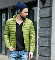 Wholesale Ultralight Parka - Wholesale- 2017 Winter Jacket men 90 Duck Jacket Men Ultralight Down Jacket Outdoors Winter Parka With Carry Bag MA282