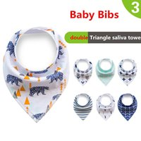 Wholesale Baby Bibs Newborn Burp Cloths Bandana Infants Cotton Boys Girls Saliva Cute Arrow animal friuts Cartoon Feeding Scarf ins